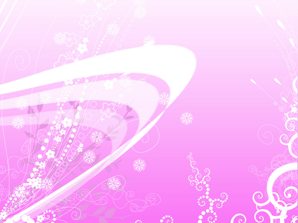 Pink background foliage PPT Backgrounds
