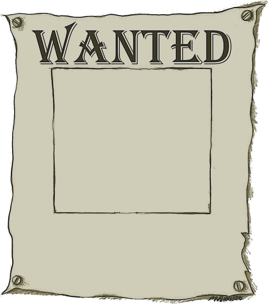 Wanted poster with border PPT Backgrounds