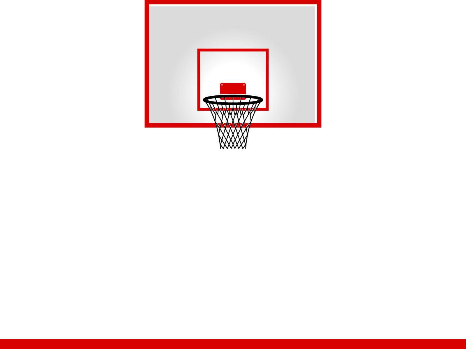 Basketball Hoop PPT Backgrounds
