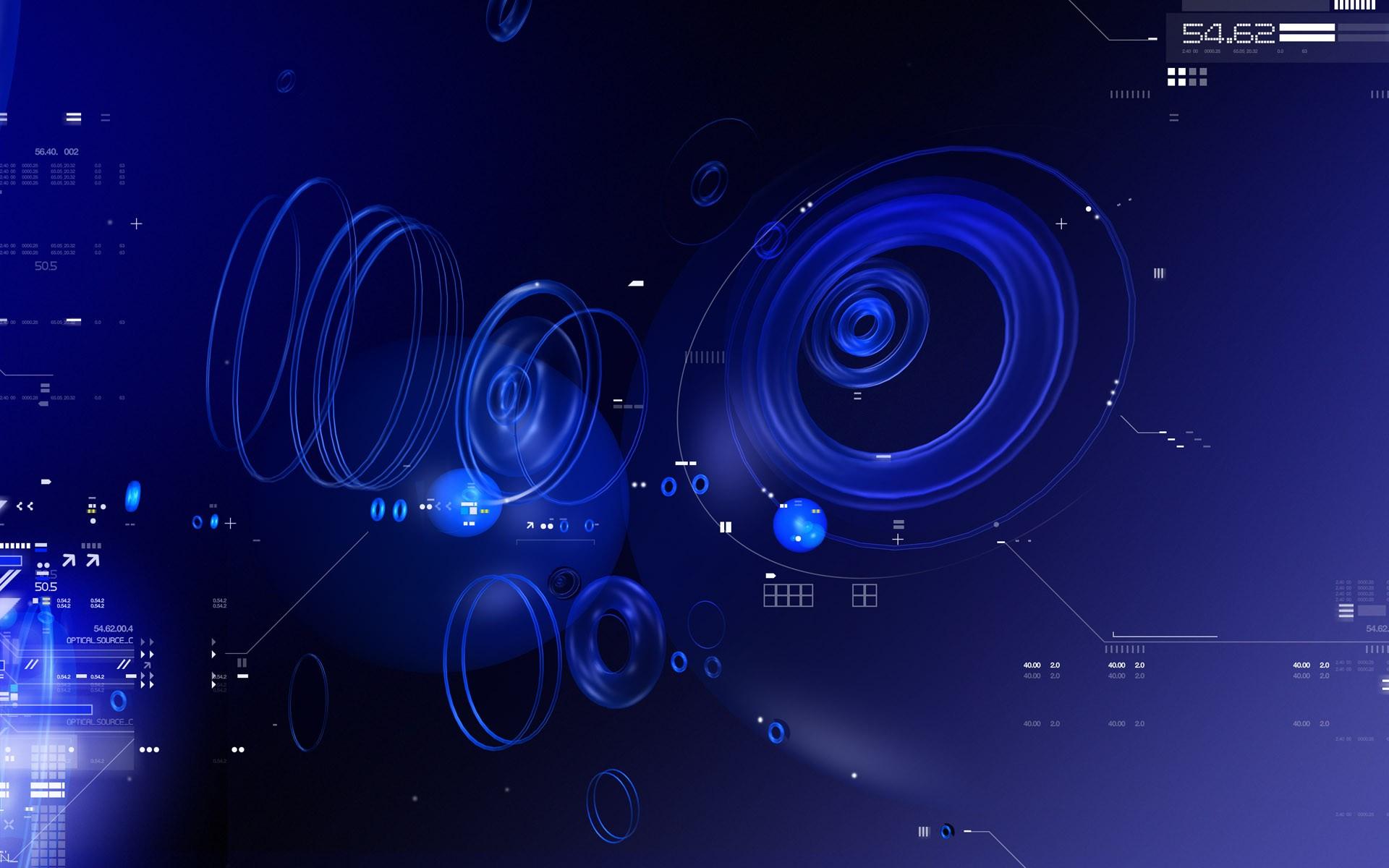 Blue Tech Circles PPT Backgrounds