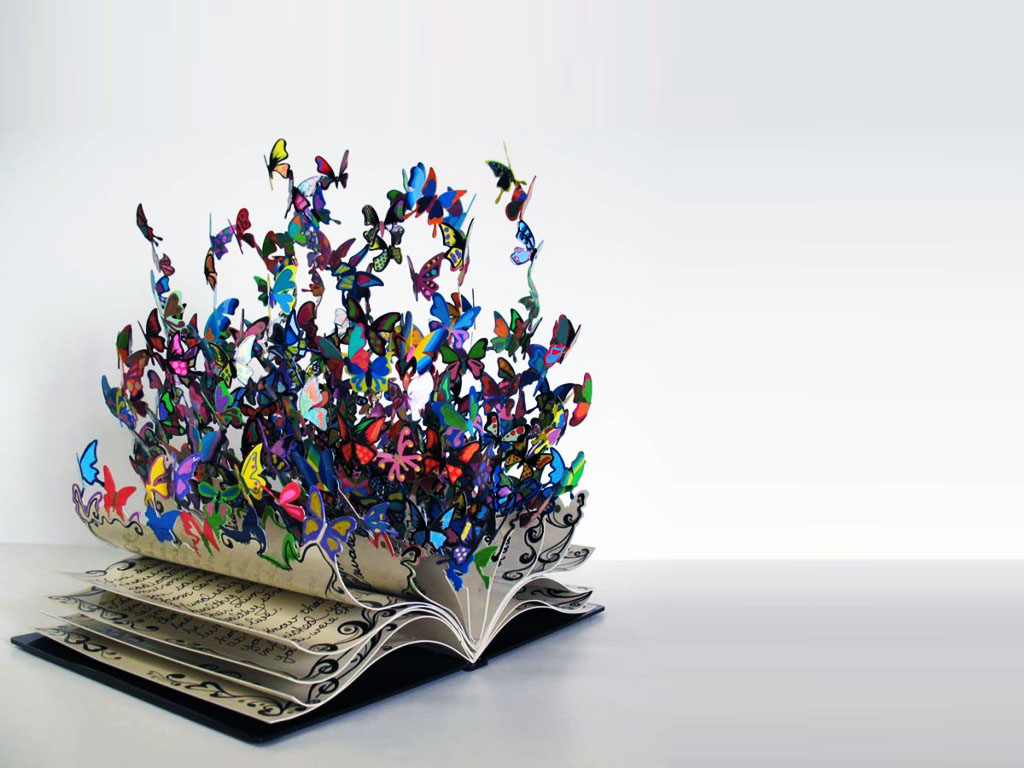 Book arts for Finearts PPT Backgrounds
