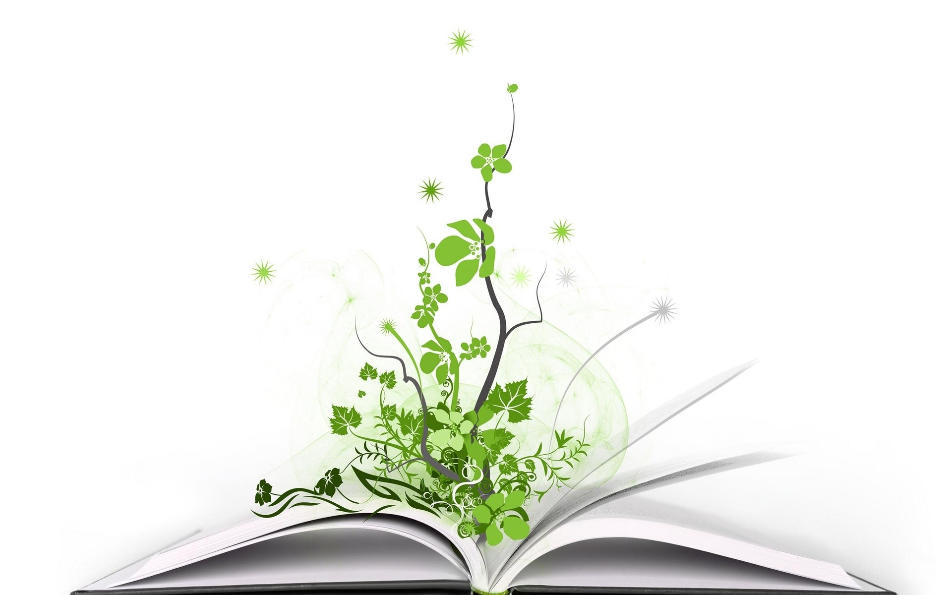 Creative plants books PPT Backgrounds