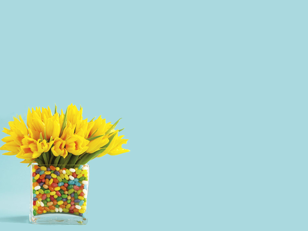 Easter yellow flowers PPT Backgrounds