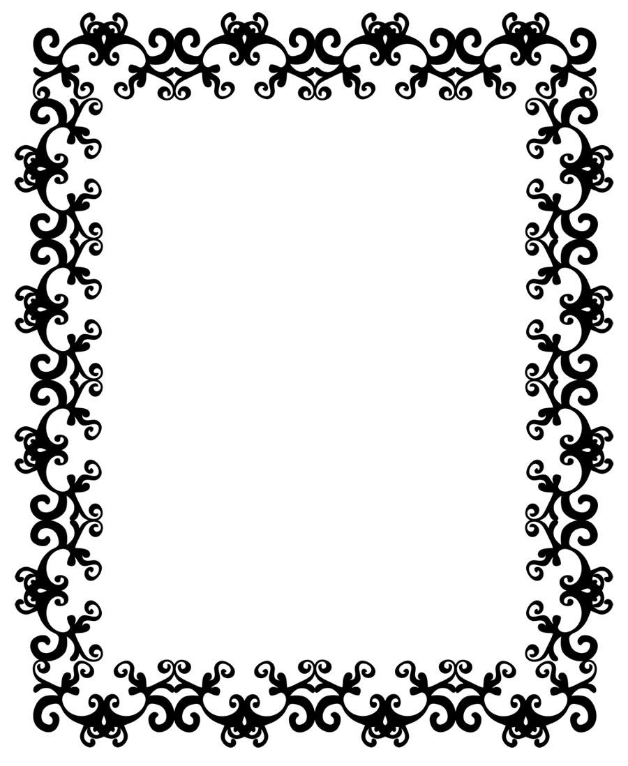 Flourish pattern frame border PPT Backgrounds