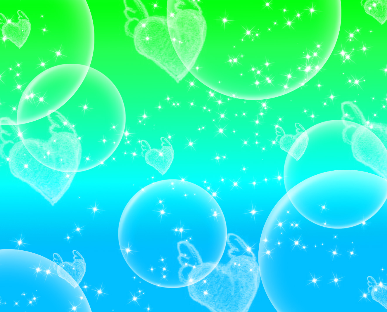 Green Blue Circles PPT Backgrounds
