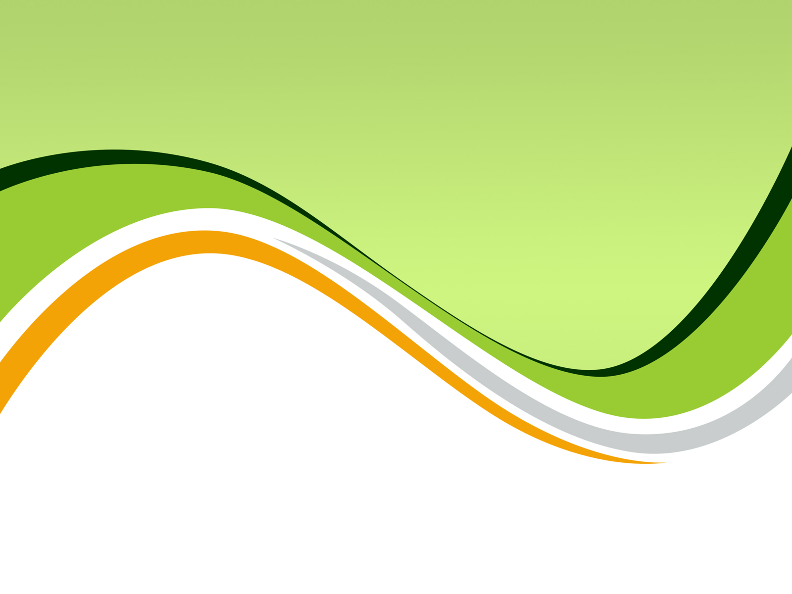Green waves PPT Backgrounds