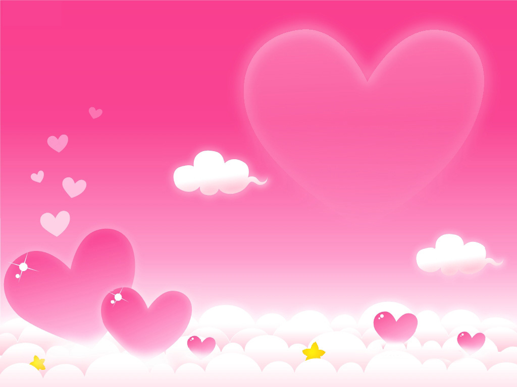 Heart Love Clouds PPT Backgrounds