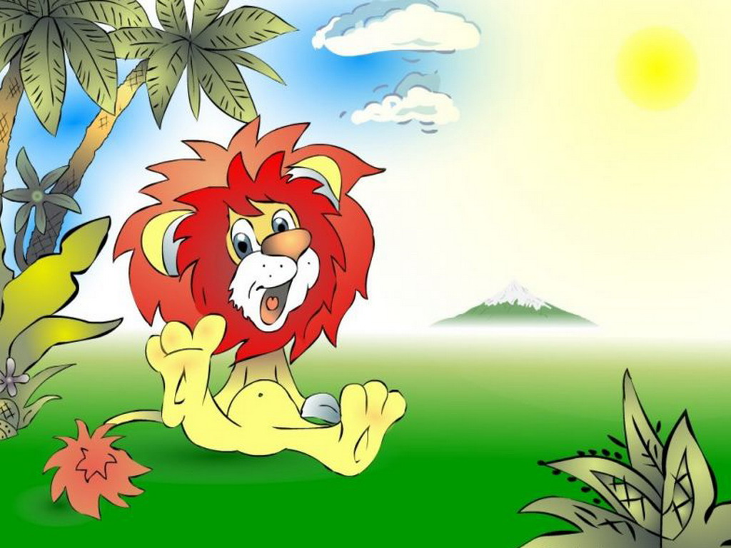 Lion in the sun PPT Backgrounds