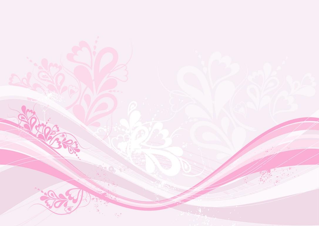 Modern pink floral PPT Backgrounds