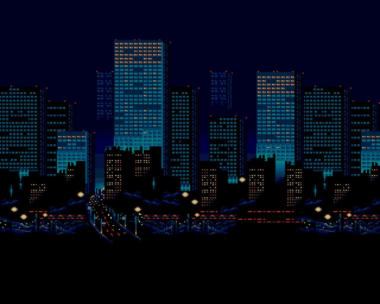 Night City lights PPT Backgrounds