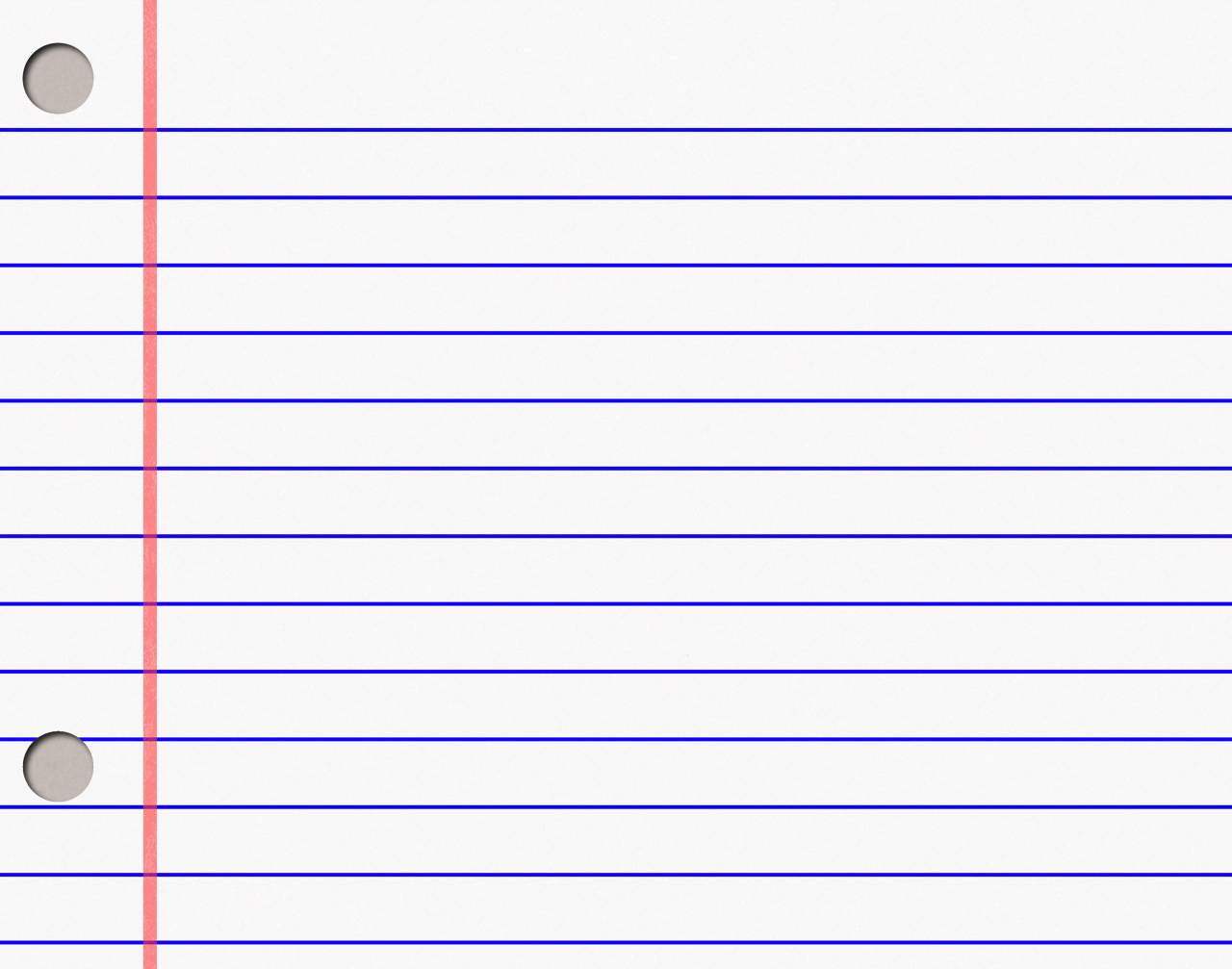 Notebook Paper PPT Backgrounds