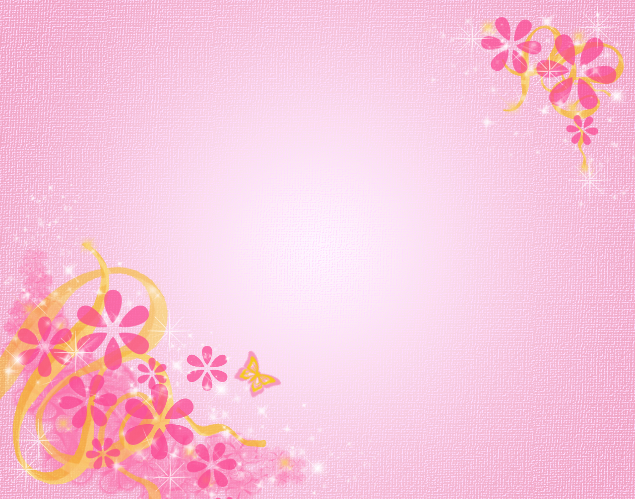 Pink floral frame PPT Backgrounds