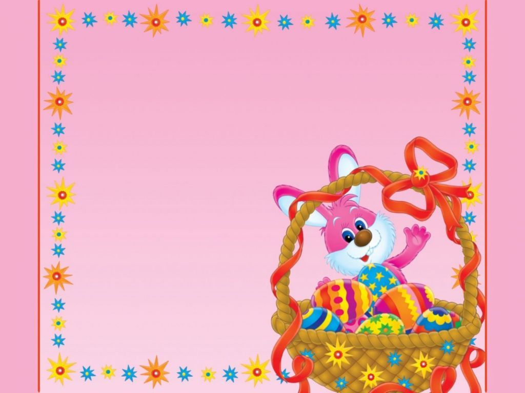Pink Rabbit PPT Backgrounds
