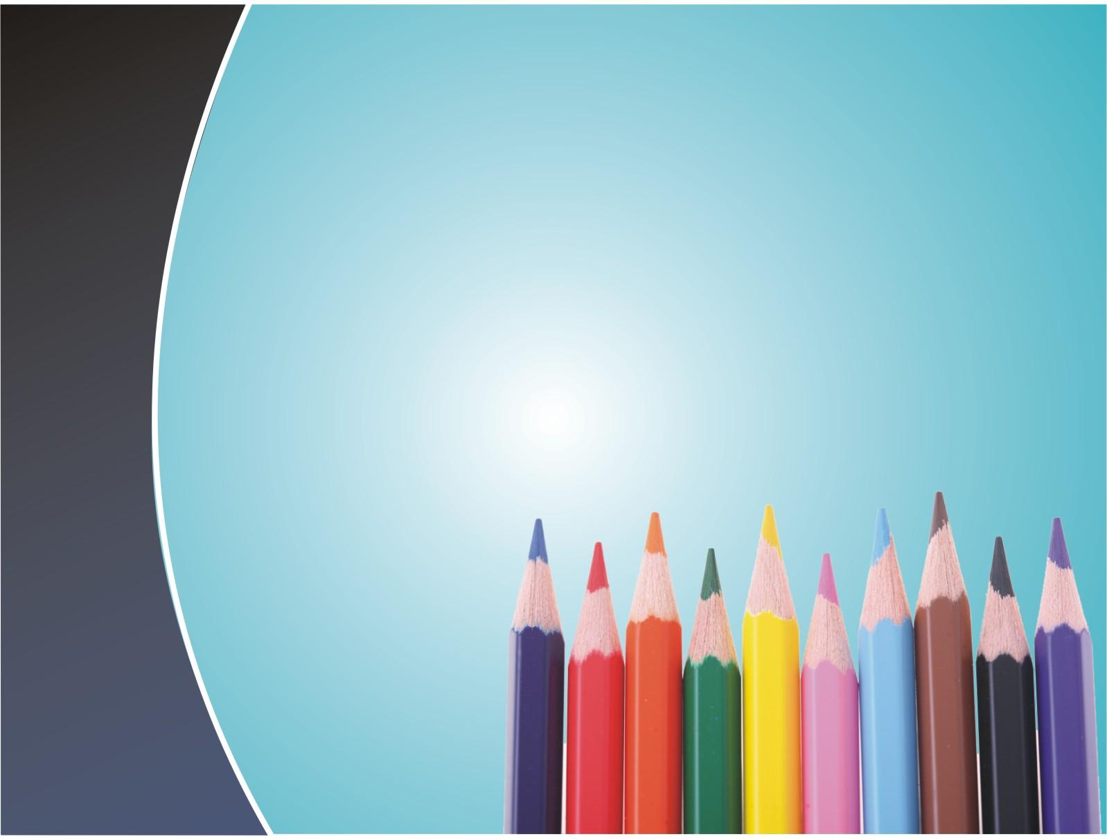 School pencils PPT Backgrounds