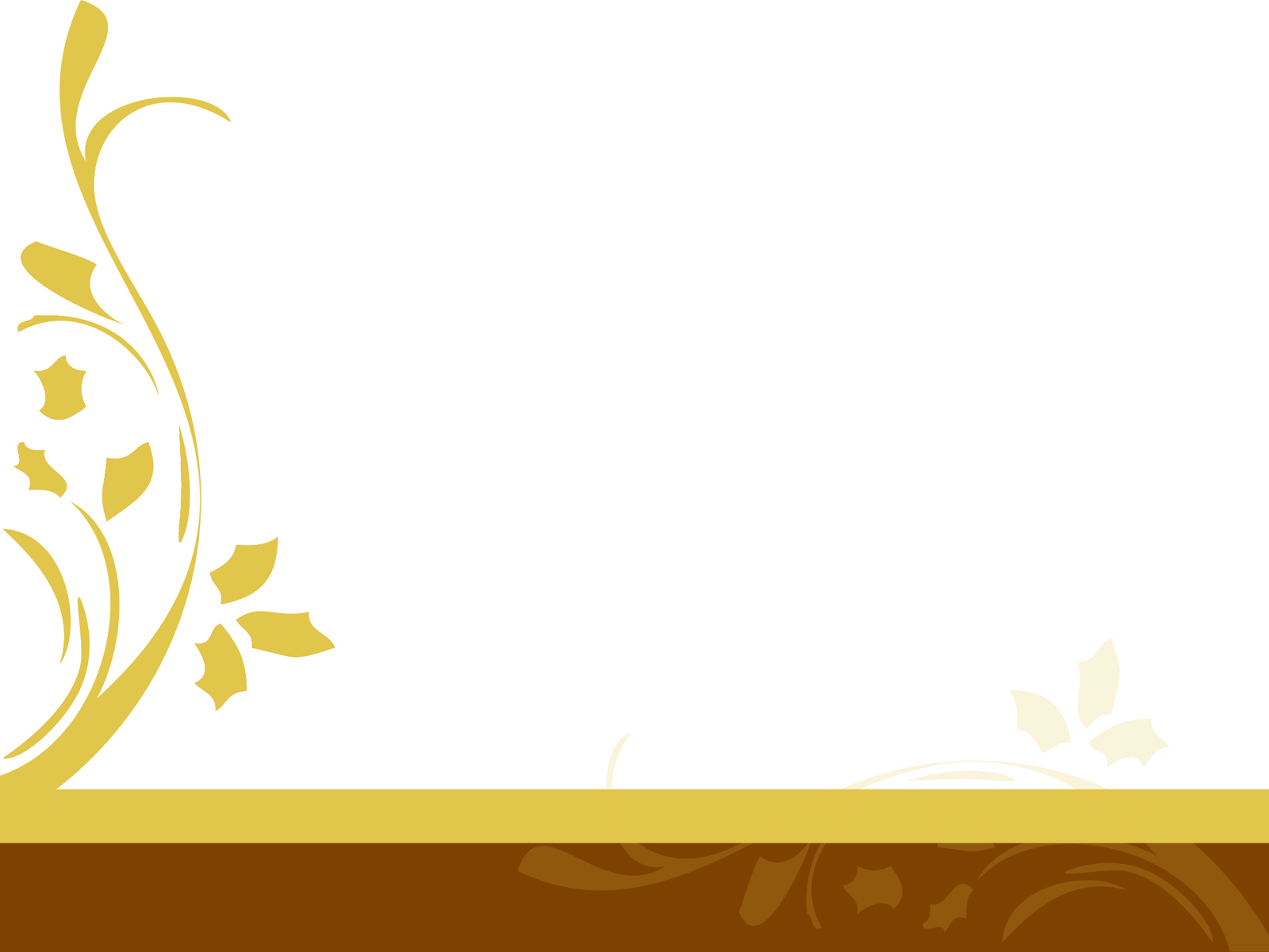 Simple Floral Design PPT Backgrounds