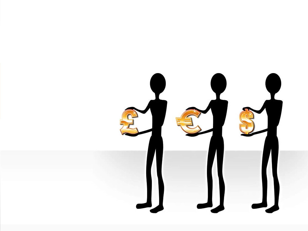 Silhouettes business stick figures PPT Backgrounds
