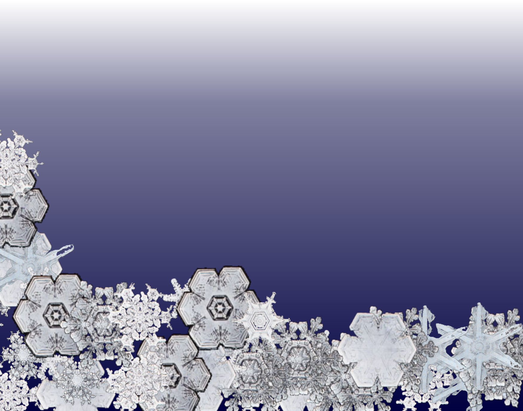 Snow Crystal Fade PPT Backgrounds