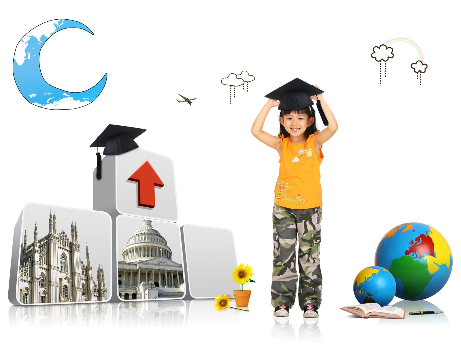 Starting in kindergarten PPT Backgrounds