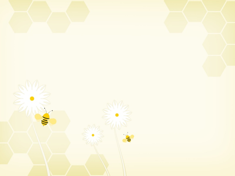 Sweet Bees PPT Backgrounds