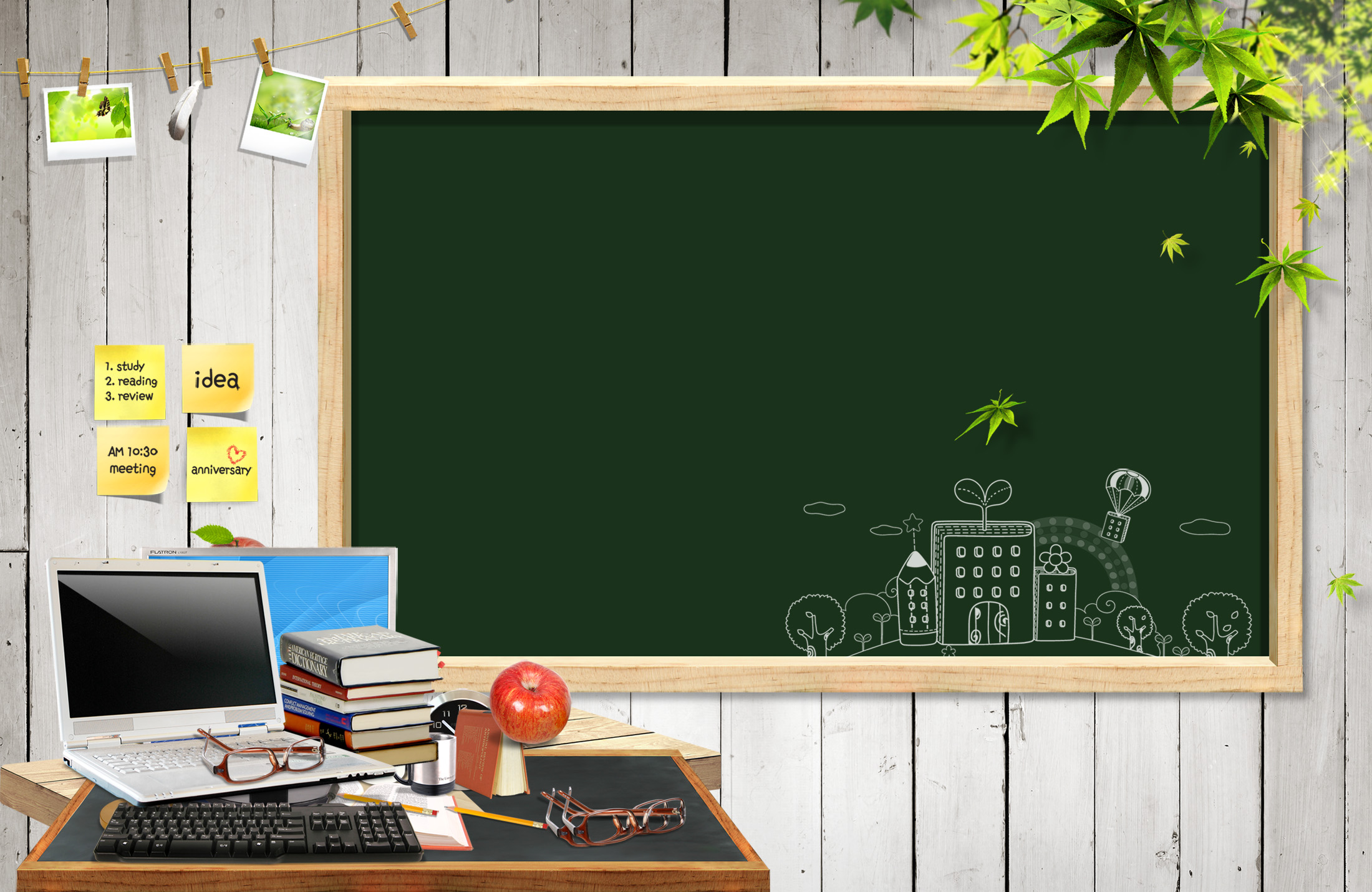 Study time for Education PPT Backgrounds