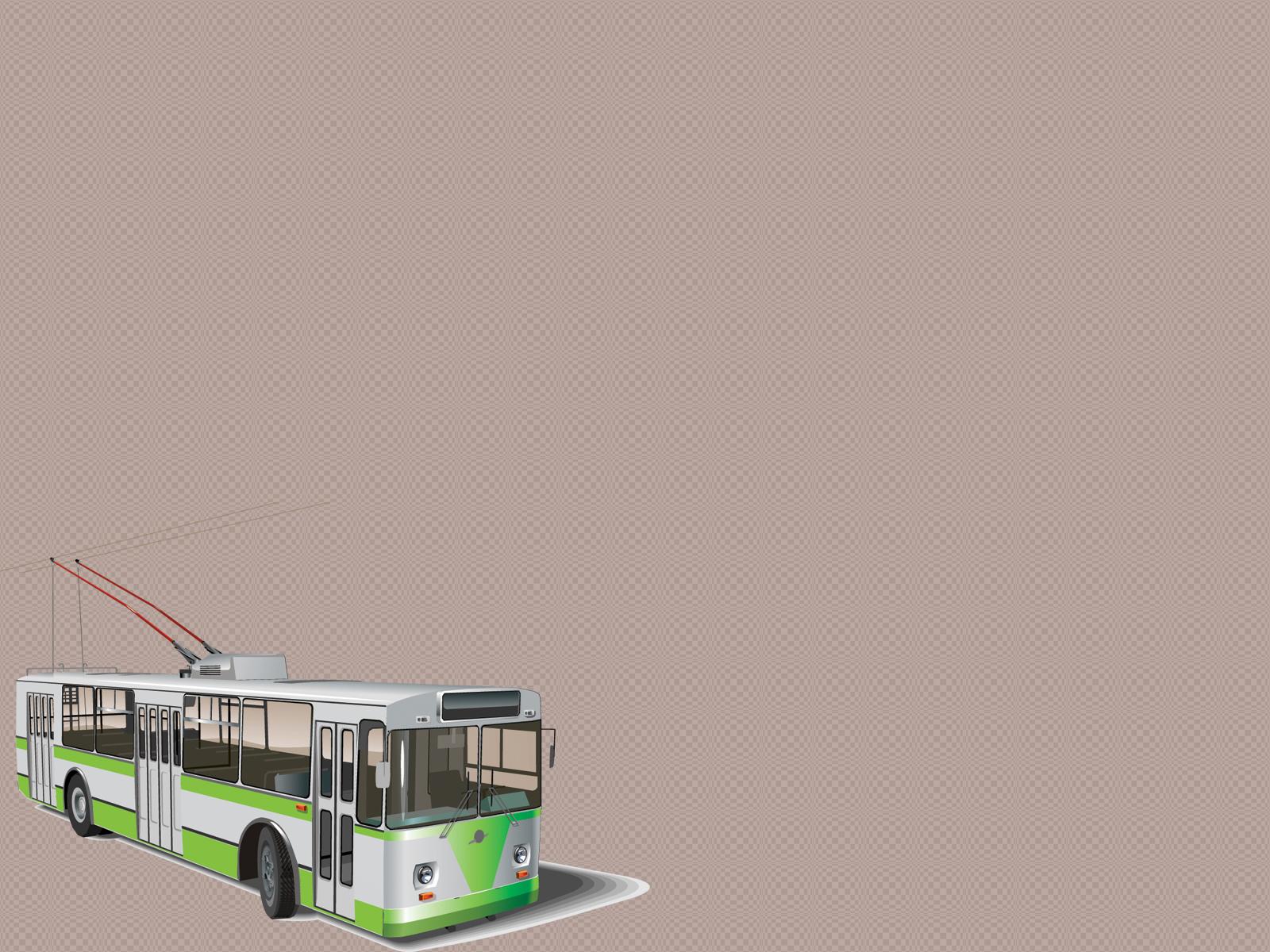Transportation Tram Vector PPT Backgrounds