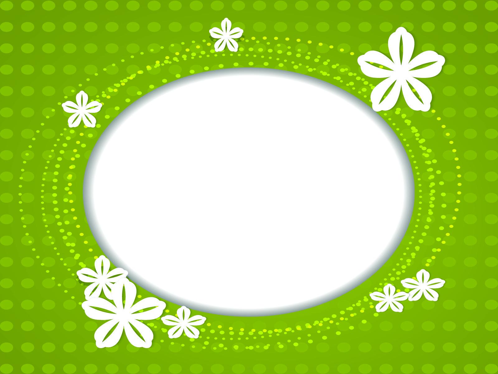 White Flower PPT Backgrounds