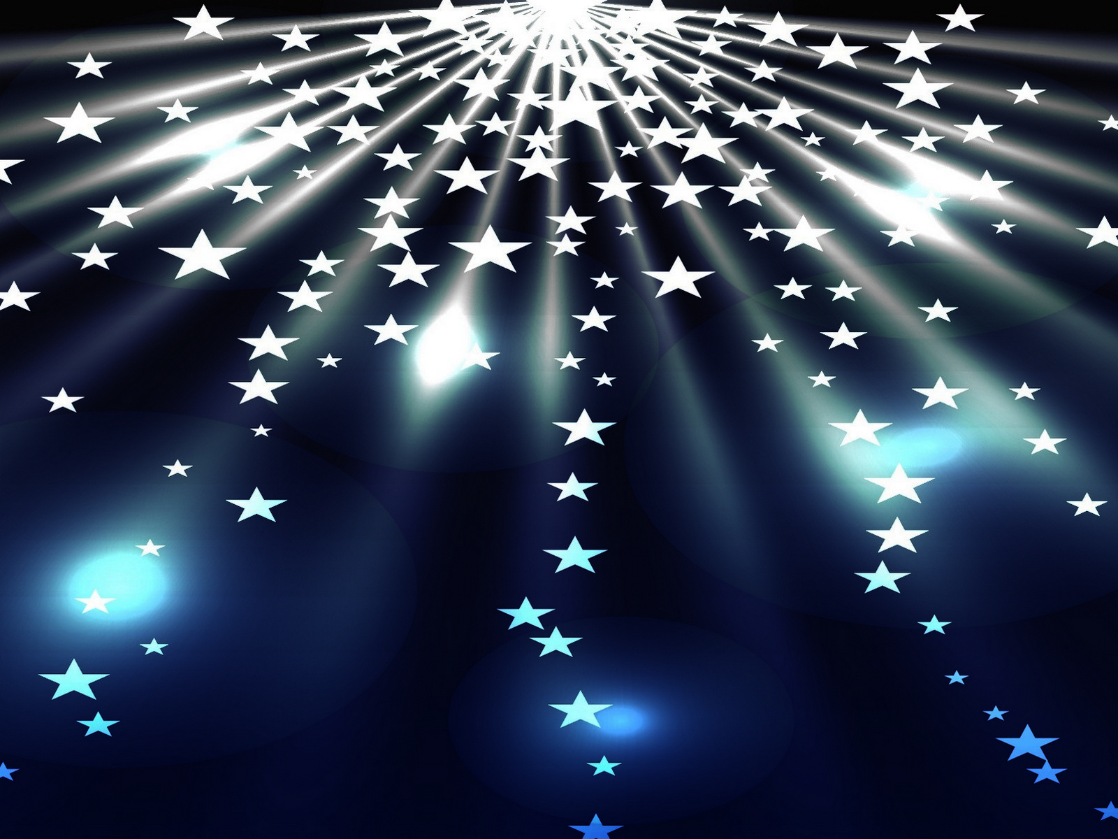 White Stars PPT Backgrounds