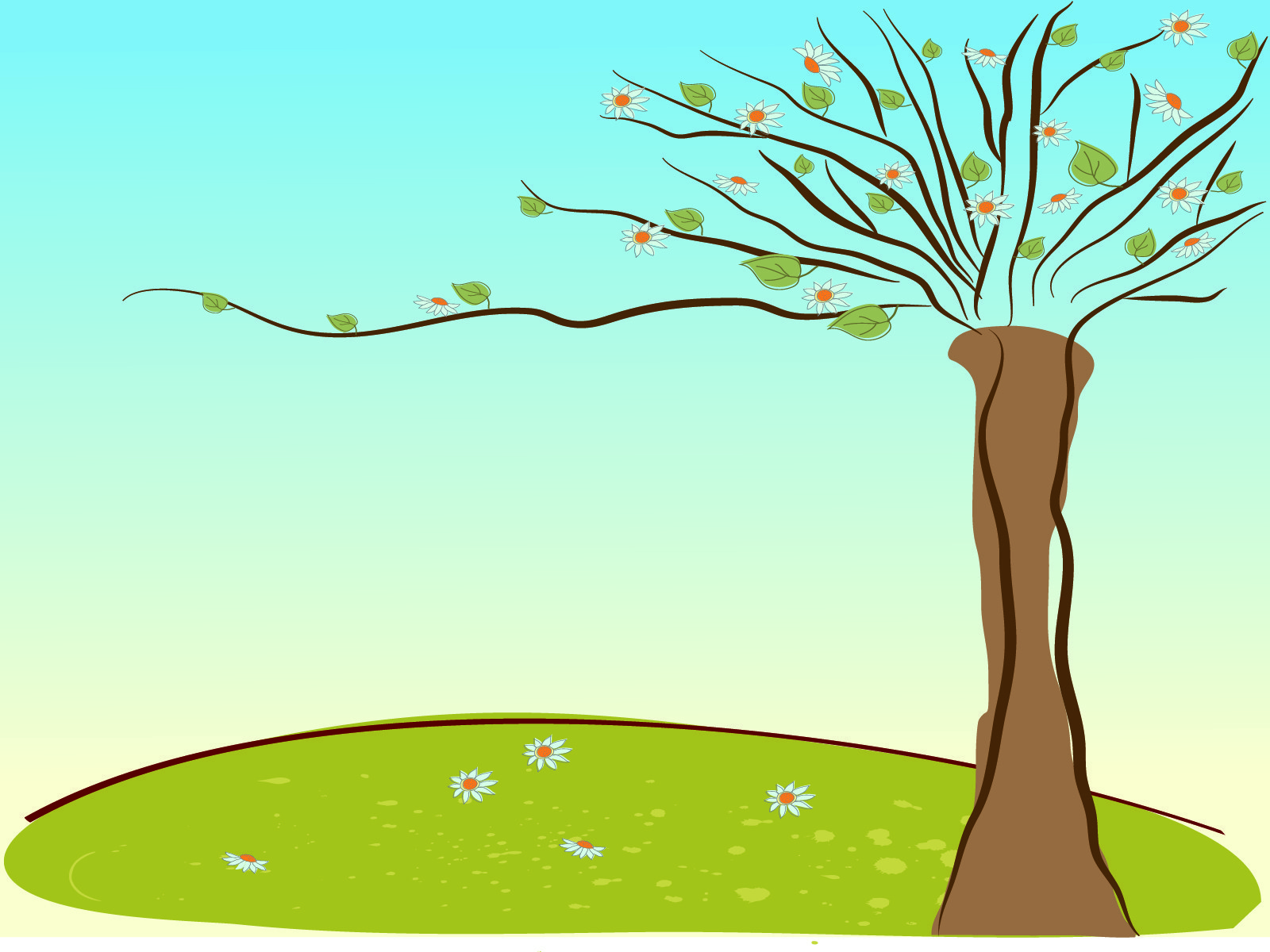 Wizened Tree PPT Backgrounds