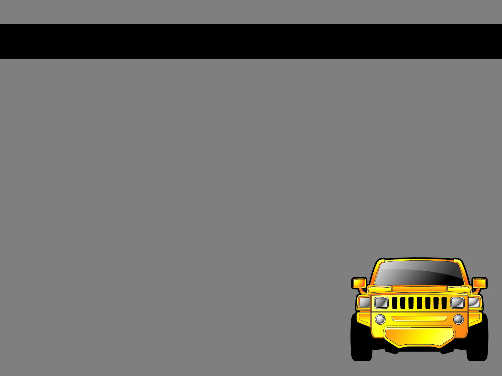 Yellow Car PPT Backgrounds