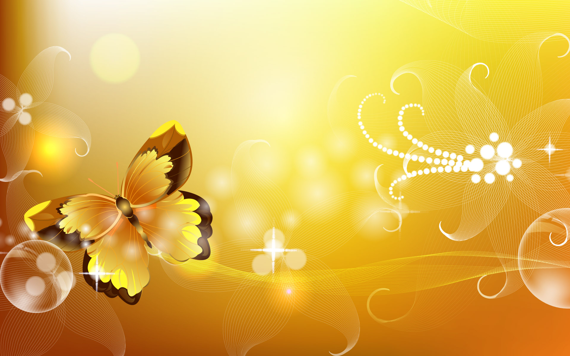 Yellow Gold PPT Backgrounds