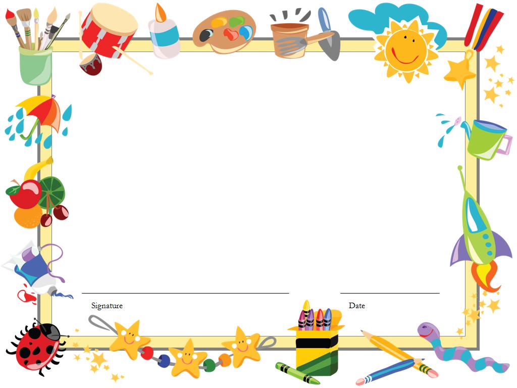 Kindergarten diploma certificate PPT templates
