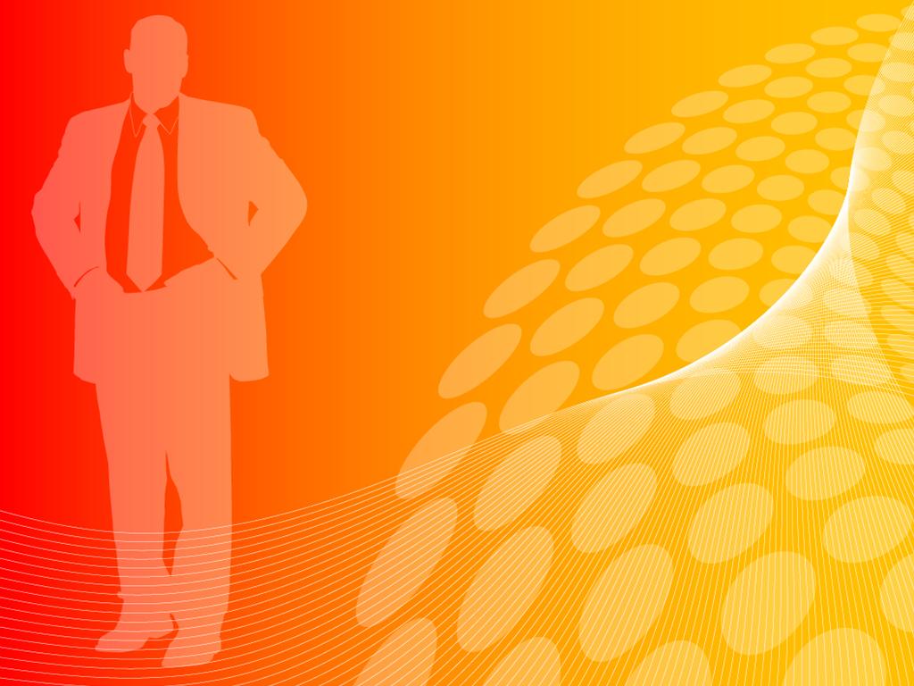 Orange business people presentation PPT templates