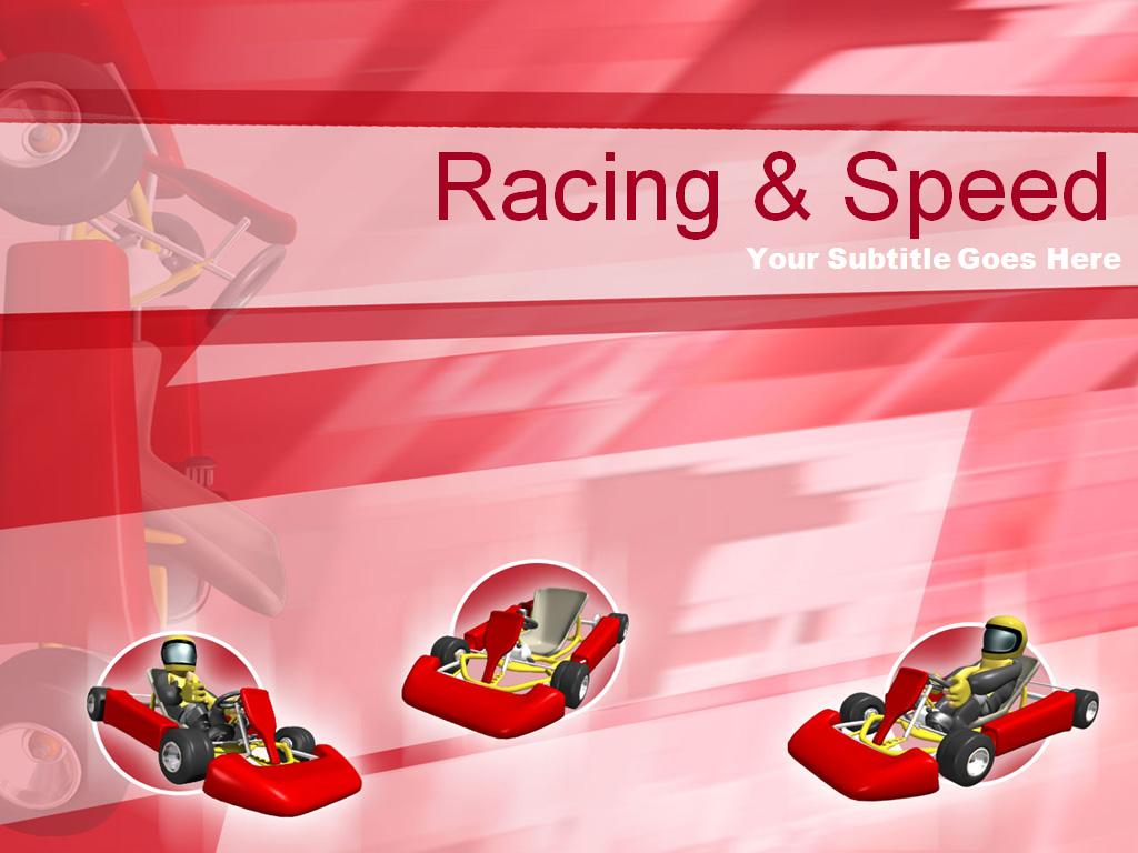 Racing speed PPT templates