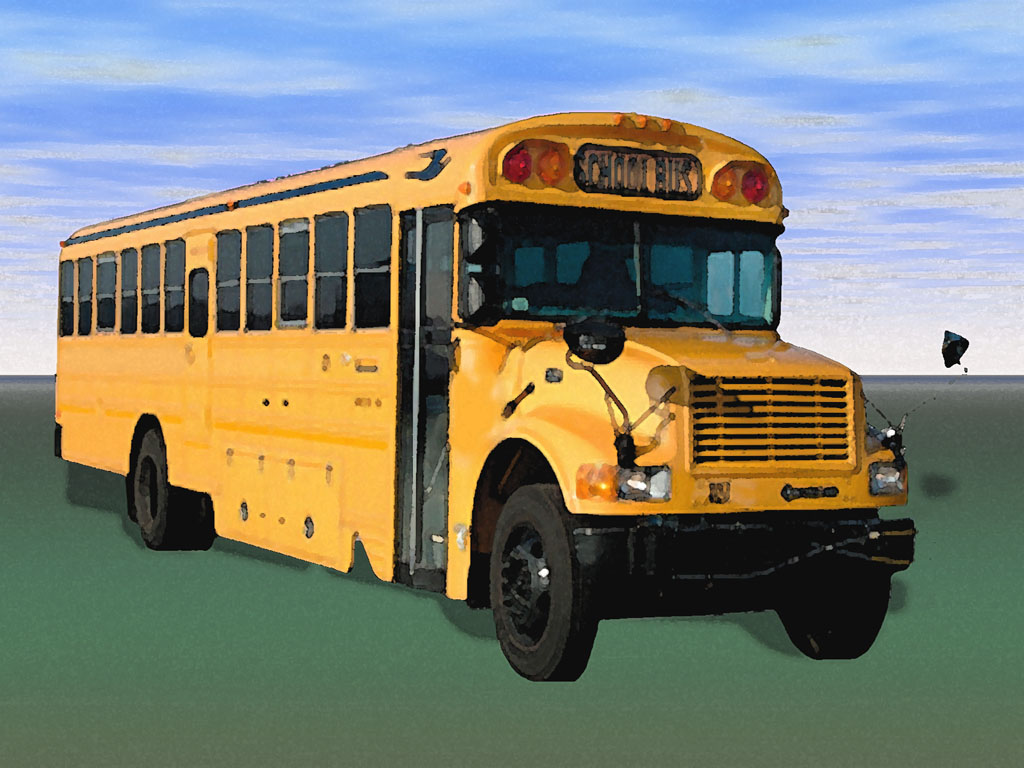 School Bus for Education PPT templates