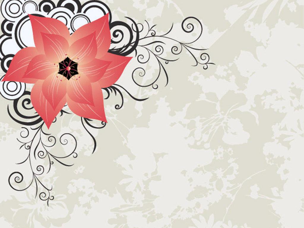 Stylish Flower Powerpoint PPT templates